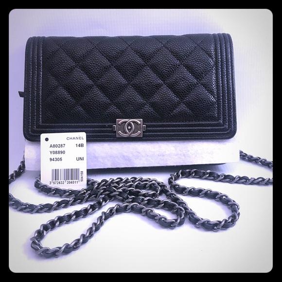 4d277436b1ac CHANEL Handbags - Chanel boy WOC- BLK Caviar w/ silver hdw